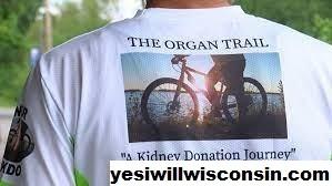 Pria Wisconsin Bersepeda 1500 mil Untuk Kesadaran Donor Organ